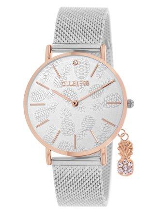 Dámské hodinky s nerezovým páskem ve stříbrné barvě Clueless