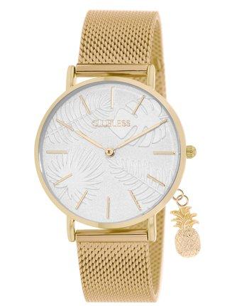 Dámské hodinky s nerezovým páskem v zlaté barvě Clueless