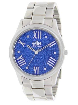 Dárkový set hodinek s náramkem ve stříbrné barvě Elite