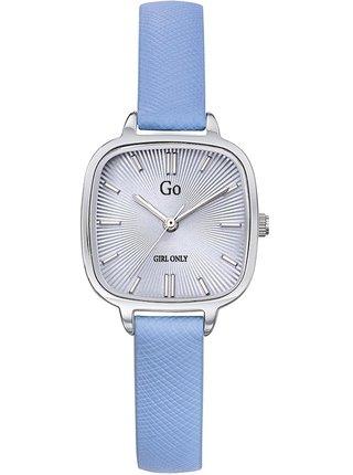 Dámské hodinky s modrým koženým páskem Girl Only