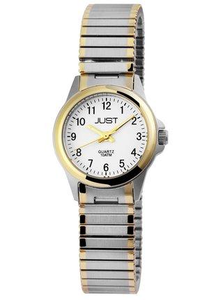 Dámské hodinky s nerezovým páskem ve stříbrné barvě Just
