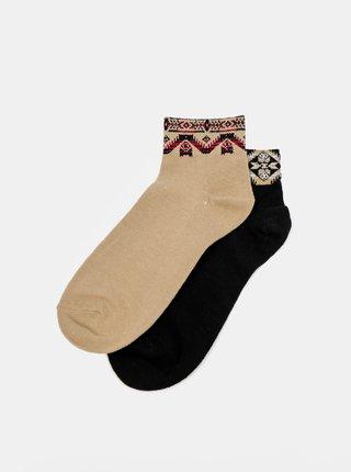 Sada dvou párů ponožek v hnědé a černé barvě TALLY WEiJL