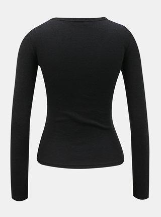 Tričká s dlhým rukávom pre ženy TALLY WEiJL - čierna