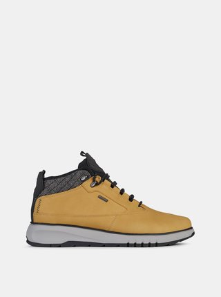 Žlté pánske kožené zimné topánky Geox
