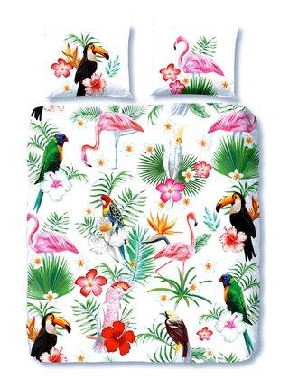 Home farebné posteľné obliečky na jednolôžko Good Morning Paradise 140x200cm