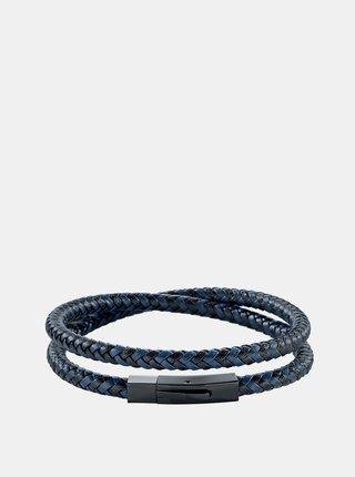 Pánský modrý kožený náramek Morellato