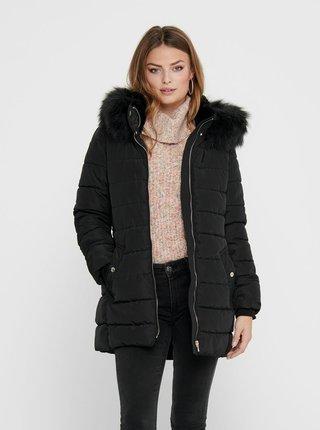 Černá zimní prošívaná bunda ONLY