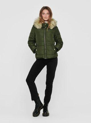 Zelená zimní prošívaná bunda ONLY