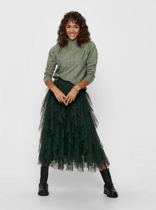 Zelený svetr se stojáčkem Jacqueline de Yong