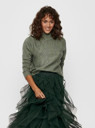 Zelený svetr se stojáčkem Jacqueline de Yong-Swan