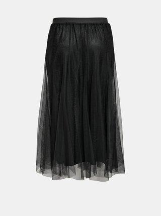 Čierna tylová midi sukňa Jacqueline de Yong