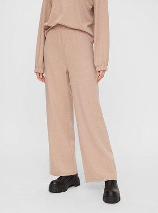 Béžové široké kalhoty Pieces