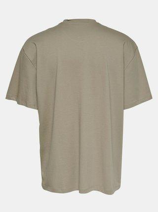 Béžové voľné tričko ONLY & SONS