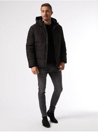 Čierna zimná prešívaná bunda Burton Menswear London