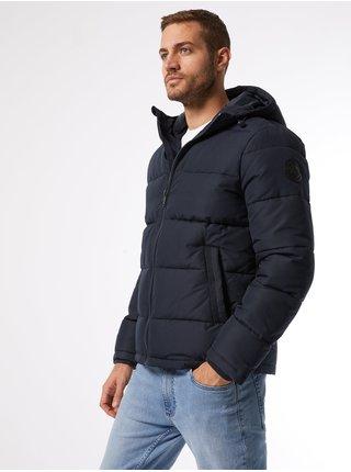Modrá zimná prešívaná bunda Burton Menswear London