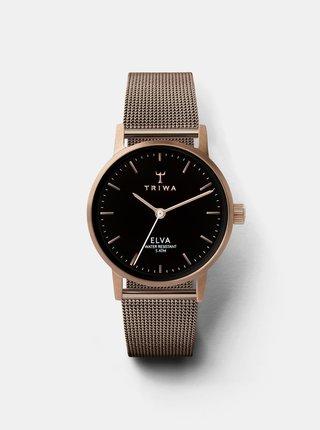 Dámske hodinky s kovovým remienkom v ružovozlatej farbe TRIWA
