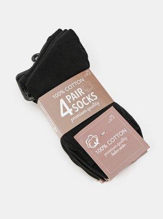 Sada štyroch párov čiernych dámskych ponožiek Something Special