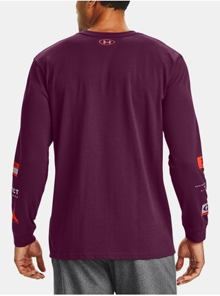Fialové tričko Under Armour UA MULTI LOGO LS