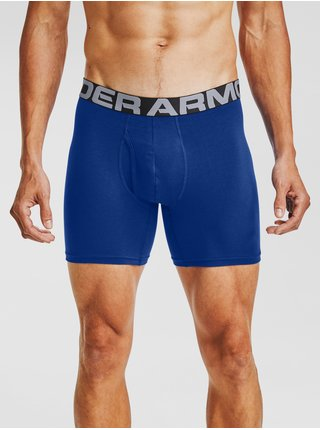 Modré boxerky Under Armour UA Charged Cotton 6in 3 Pack