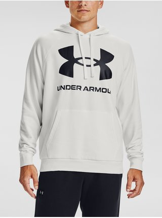Bílá mikina Under Armour Rival Fleece Big Logo HD