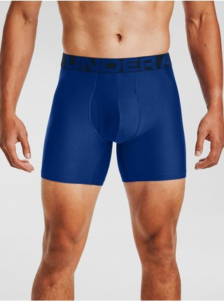 Modré boxerky Under Armour UA Tech 6in 2 Pack