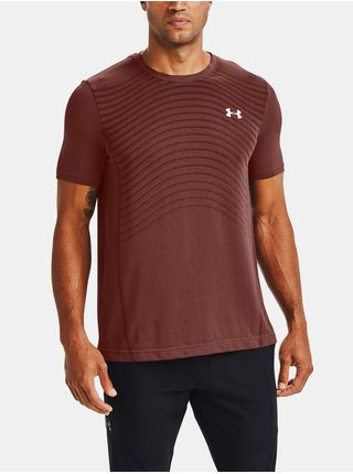 Cihlové tričko Under Armour Seamless Wave SS