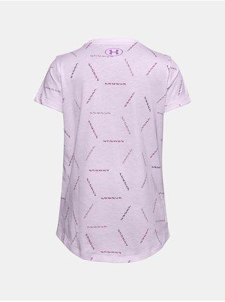 Fialové tričko Under Armour UA Twitch Multi Print SS
