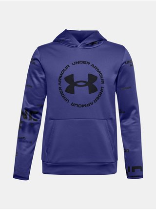 Modrá mikina Under Armour ARMOUR FLEECE SI TD HOOD