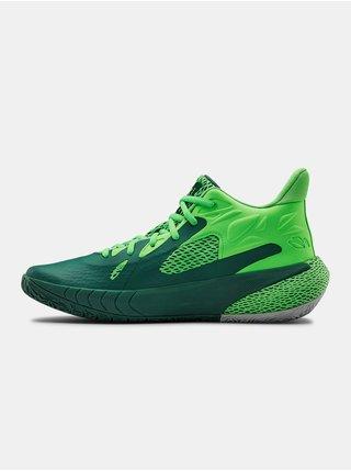 Zelené topánky Under Armour HOVR Havoc 3