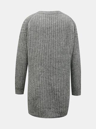 Světle šedý basic svetr ONLY New Chunky