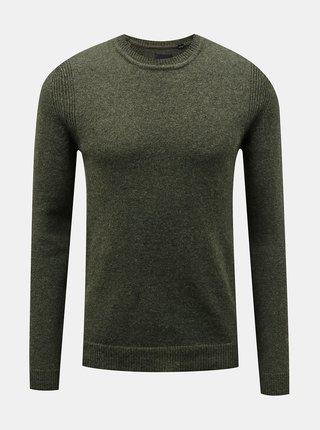 Khaki vlněný svetr ONLY & SONS Howard