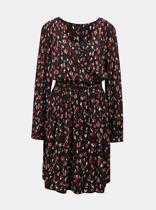 Černé vzorované šaty VERO MODA