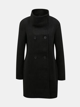 Černý vlněný kabát VERO MODA