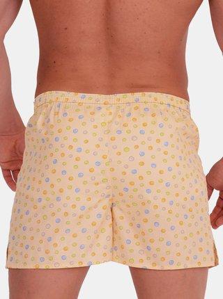 Emes žluté pánské trenýrky s puntíky