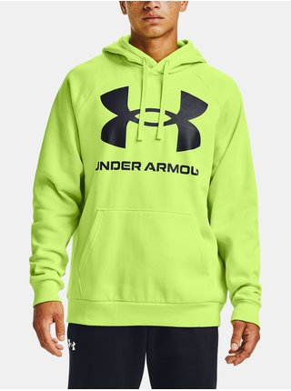 Zelená mikina Under Armour Rival Fleece Big Logo HD