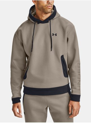 Hnedá mikina Under Armour Recover Fleece Hoodie