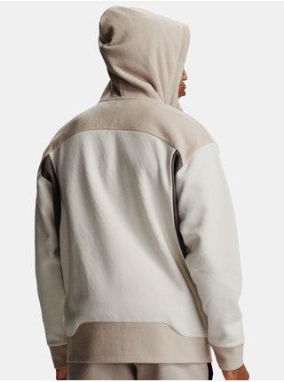 Bílá mikina Under Armour Recover Fleece FZ Hoodie