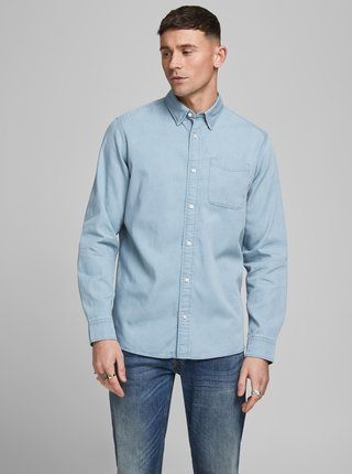 Svetlomodrá rifľová košeľa Jack & Jones