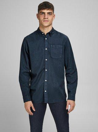 Tmavomodrá rifľová košeľa Jack & Jones