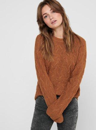 Hnedý sveter Jacqueline de Yong