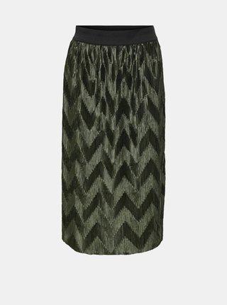 Khaki plisovaná sukně Jacqueline de Yong