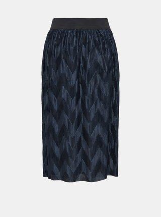 Tmavě modrá plisovaná sukně Jacqueline de Yong