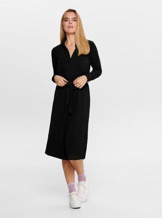 Čierne košeľové šaty Jacqueline de Yong
