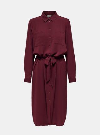 Vínové košeľové šaty Jacqueline de Yong