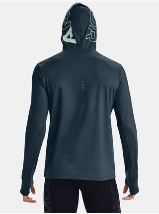 Modrá mikina Under Armour UA Q. IGNIGHT CG Zip Hoodie