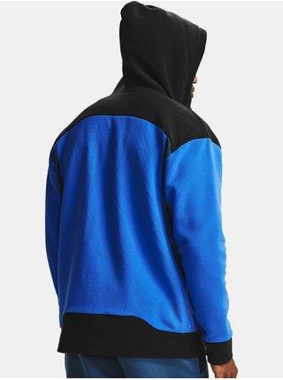 Modrá mikina Under Armour Recover Fleece FZ Hoodie