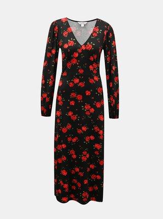 Černé květované maxišaty Miss Selfridge