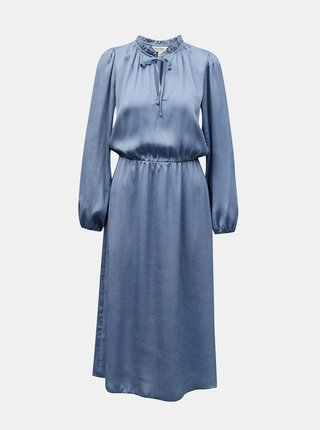 Modré saténové šaty Miss Selfridge