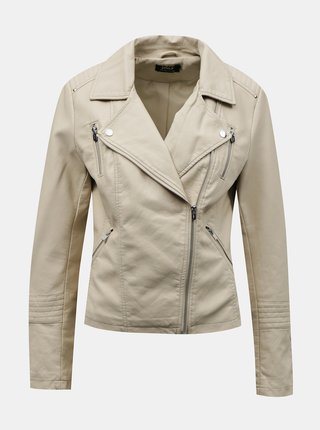 Krémová koženková bunda ONLY Gemma