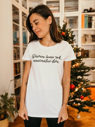 Bílé dámské tričko ZOOT Original Dávám tomu rok